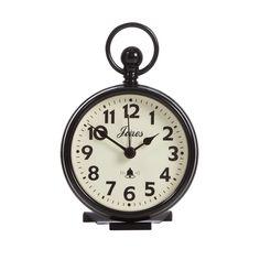 Jones Black pocket watch clock- at Debenhams.com