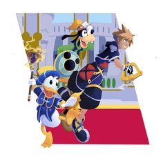 The most trio-y trio in all of Kingdom Hearts.