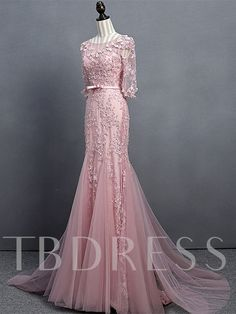 Appliques Beading Bowknot Sashes Mermaid Evening Dress Mermaid Evening Dresses, Prom Dresses, Formal Dresses, Wedding Dresses, Beautiful Party Dresses, Sash, Appliques, Wedding Events, Beading