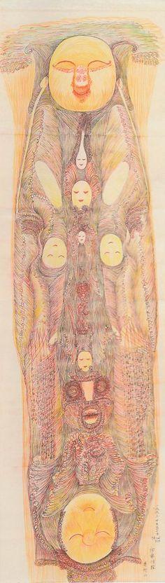 Guo Fengyi, untitled 2007, @ Collection de l'Art Brut de Lausanne, 2010