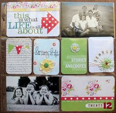 Scrapbook Page Ideas... always in need of these