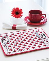 Beautifully classic... FREE CROCHET PATTERN @ Ravelry: Interlocking Crochet Reversible Placemat pattern by Tanis Galik