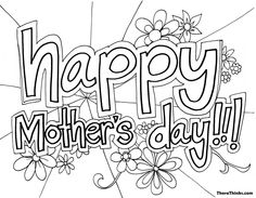 Here i am sharing best Happy mother's day 2019 coloring sheets for kids to color on this coming mothers day are very interested in coloring activity so use these coloring pages to ask your children to color it and ask them to enjoy. Mothers Day Poems, Mothers Day 2018, Mothers Day Pictures, Mothers Day Crafts For Kids, Mothers Day Cards, Coloring Pages To Print, Free Printable Coloring Pages, Coloring Pages For Kids, Kids Coloring