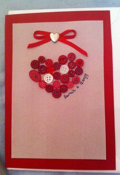 Wedding Card - Button Heart
