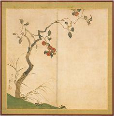 Sakai Hōitsu (Japanese, 1761–1828). The Persimmon Tree, 1816. The Metropolitan Museum of Art, New York. Rogers Fund, 1957 (57.156.3)