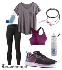 """Leg Day + Asthma (read D)"" by thegalloptogreatness on Polyvore featuring Reebok, The North Face, H&M, Under Armour, Victoria's Secret and Nicole Miller"