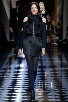 Balmain | Fall/Winter Ready-To-Wear Collection via Designer Olivier Rousteing | Modeled by Lily Donaldson | March 3, 2016; Paris