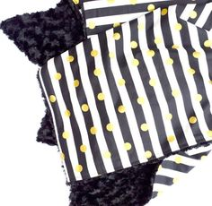 Black, White, and Gold Faux Fur Baby Blanket  Instagram: @loveandlullabies