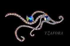 Ballroom hair heaband and ballroom jewelry made with Swarovski, available at www.tzafora.com © 2015 Tzafora. Handmade in Canada.