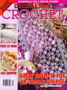 Decorative Crochet Magazines 65 - Gitte Andersen - Álbuns da web do Picasa wonderful patterns must try Crochet 101, Crochet Chart, Thread Crochet, Filet Crochet, Irish Crochet, Crochet Stitches, Crochet Doily Patterns, Crochet Designs, Crochet Doilies