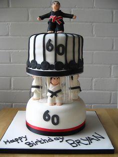 Karate Cake Masculine Ninja Yummy Cakes Jiu Jitsu Art Party Mma Studios Martial Arts Happy Birthday Celebration