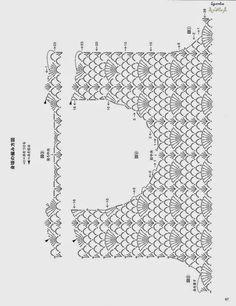 Scorzo Tricroche: Blusa de crochê manga longa com gráfico completo
