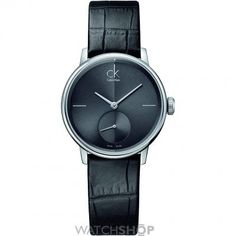 Accent Black Leather Ladies  Watch Calvin Klein Models df4b06c032be4