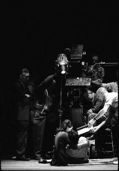 Natalie Wood & Richard Beymer on the set ofWest Side Story (1961, dir. Robert Wise & Jerome Robbins)