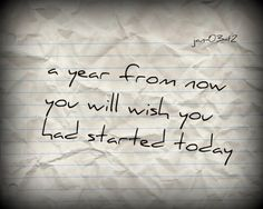 a year from now ....