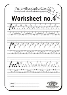 Pre-writing activities - Worksheet no.4