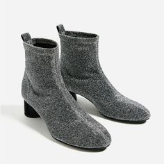 SHINY SOCK ANKLE BOOTS-Boots and ankle boots-SHOES-WOMAN | ZARA United States