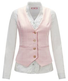 Feel pretty in pink with this sweet pastel waistcoat. With a subtle all-over check, simply team it with a feminine white blouse for a sophisticated summer day look. Brown Bags, Pastel Pink, Pretty In Pink, Jackets For Women, Feminine, Summer Dresses, Female, Casual, Sweaters