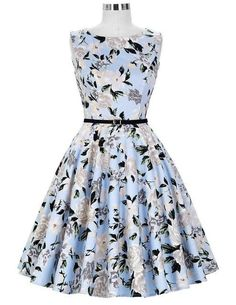 Women Dress New Patterns 2017 Plus Size Clothing Audrey Hepburn Floral Robe  Retro Swing Casual 50s