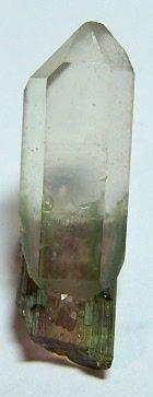 Quartz Crystal with a Watermelon Tourmaline / Mineral Friends <3