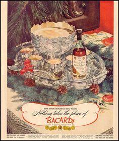 vintage egg nogg Bacardi ad
