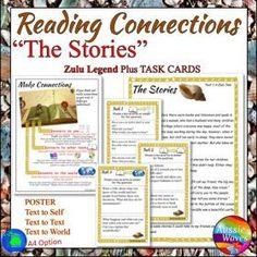 "Grade / Year Level :: Primary Education :: Year 1 :: Myths A Zulu Traditional Tale ""The Stories"" Text & Task Cards Close Questions"