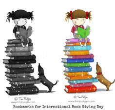 Bookmarks for International Book Giving Day