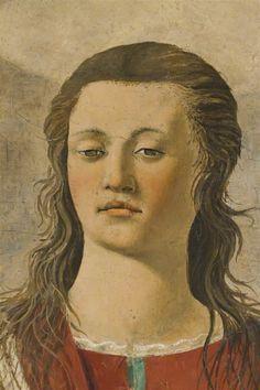 Piero della Francesca - La Santa Maria Magdalena detalle