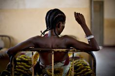 The staggering levels of sexual violence in the lawless east of the DRC account for its ranking as the second most dangerous place for women. One recent US study claimed that more than 400,000 women are raped there each year. The UN has called the Congo the rape capital of the world. A woman who has recently undergone surgery rests at the general hospital at Dungu in northeastern Congo, February 17, 2009. (Finbarr O'Reilly/Reuters) #