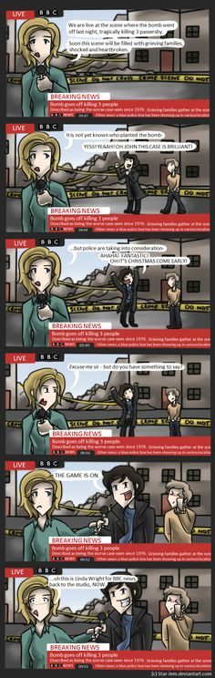 so Sherlock ^While this is a very funny Sherlock comic, did anyone else read the headlines? BBC fandom a collide