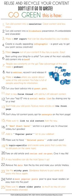 25 Creative Ways to Reuse and Recycle Your Old Blog Content   Red Website Design Blog
