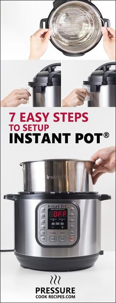 Excited and intimidated by your new Instant Pot Electric Pressure Cooker? Here's a Step-by-Step Instant Pot Setup Guide with photos before first use.