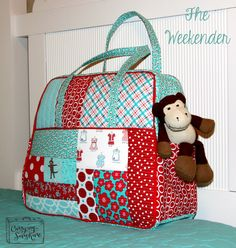 The Weekender Bag. Pattern by Amy Butler. Patchwork Bags, Quilted Bag, Bag Patterns To Sew, Quilt Patterns, Sewing Crafts, Sewing Projects, Sewing Diy, Diy Bags No Sew, Amy Butler Fabric