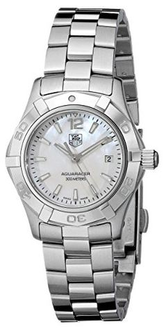 TAG Heuer Womens WAF1414BA0823 Aquaracer Stainless Steel Dress Watch *** Click on the image for additional details.