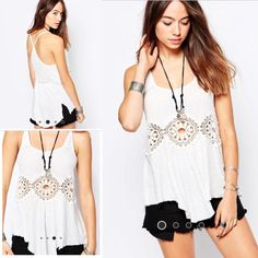 Free People Cotton Linen Rib Sundial Tank Super soft racerback ribbed tank! Features three sundial crochet cutout accent in front. Rounded unfinished hem with side slits. 55% linen 44% cotton. Free People Tops Tank Tops