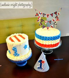 A Red White and Blue First Birthday Party (and cakes!)