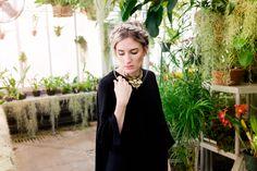 Gorgeous model posing in greenhouse | Duke Farms | NJ Wedding Photographer | Elyse Jankowski Photography
