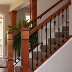 Wood Rail Wrought Iron Spindles This Is What We Need To Replace Our Wooden Railings With