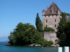 """* Lago Léman *  """"Castelo de Yvoire""""."""