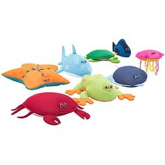 Soak in more fun in the pool with the Pool Petz Collection. Available in eight different sea creatures, these critters love to lounge around poolside. These little guys are filled a buoyant Ultimax beans and covered in a quick drying UV and mildew resistant mesh.