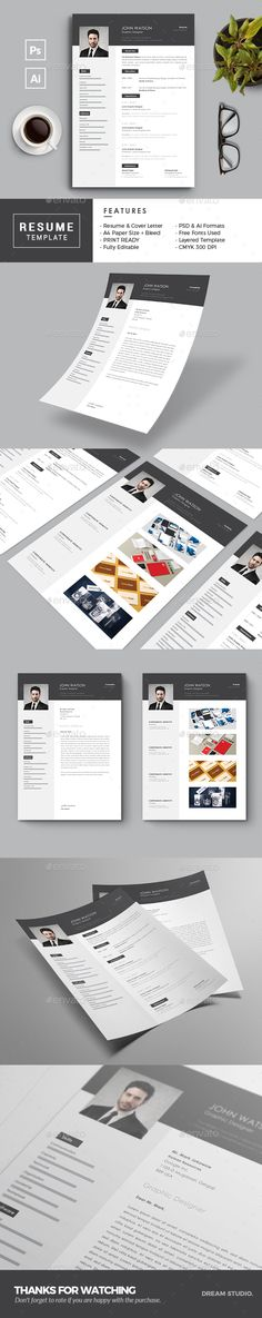 Marketing Executive Resume, Modern Resume Template, CV Template