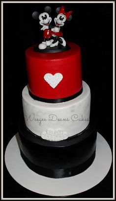 Mickey and Minnie Mouse Wedding Cake | Flickr - Photo Sharing!