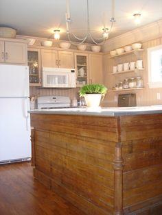 I had this same basic idea... wood... but painted. Love the farmhouse feel.