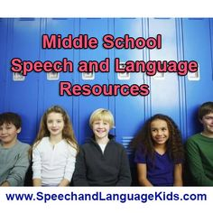Are you a speech therapist or parent of a middle schooler with speech/language problems?  If so, you've come to the right place!  Check out my fantastic speech therapy resources for children in middle school. Middle School Communication Skills: So what communication skills are needed for children in middle school?  Well, for that we go the Common Core