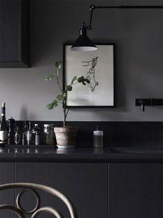 Kitchen, Black, ideas, cabinets
