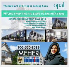 """ATTENTION EVERYONE"" The Exclusive Brand New Urban Townhomes Coming in East Toronto on Saturday May 28th and Sunday June 4th & 5 th From 12am to 5pm Register Today for Platinum/VIP Access call Meher from G1 905-550-8589 Starting from mid $ 200 occupancy in the Fall of 2018, you'll fall in love with Scarborough and all the conveniences of living in East Toronto, with access to Toronto's best nature areas, world class shopping and public transit. Key Points: Call Meher from G1 906-550-8589"