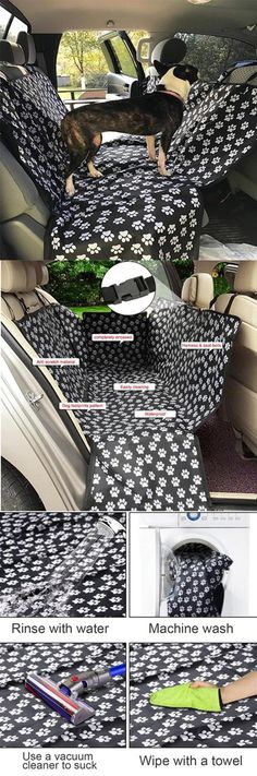 Pet Car Seat Cover Dog Safety Mat Cushion Rear Back Seat Protector Hammock Animals And Pets, Cute Animals, Pet Car Seat Covers, Fru Fru, Dog Rooms, Dog Safety, Dogs And Puppies, Doggies, Dog Accessories