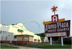 The old Alamo Plaza Hotel in West Dallas, opened in the 1940s, now closed