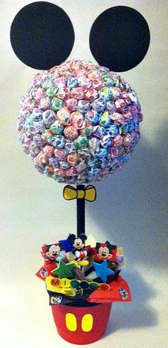 Mickey Mouse Lollipop Tree custom made Party by SweetLotusTreats