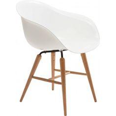 Kare Design Set 4 Stoelen Forum - Wit - Kunststof - Hout